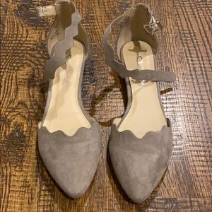 Chinese Laundry cute scalloped flats - size 8